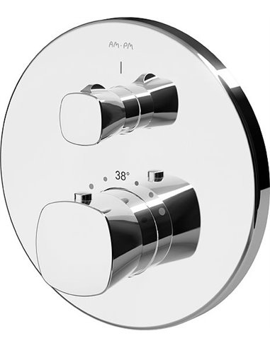 AM.PM termostata jaucējkrāns dušai Spirit V2.1 F71A75600 - 1