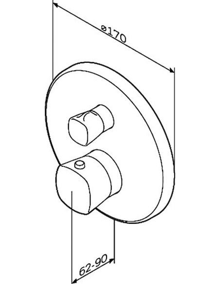 AM.PM termostata jaucējkrāns dušai Spirit V2.1 F71A75600 - 5