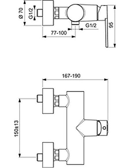 Ideal Standard dušas jaucējkrāns IdealSmart B0464AA - 2