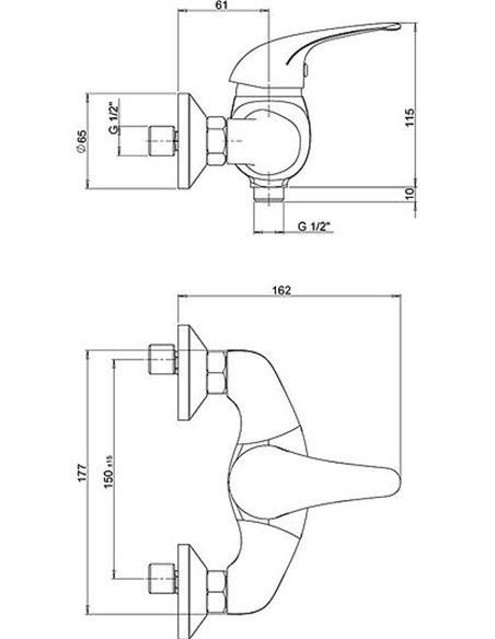 Paini dušas jaucējkrāns Smile 39CR511KM - 3