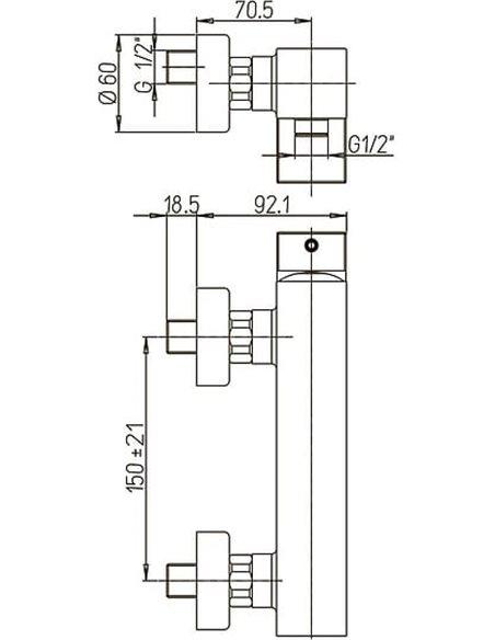 Paini dušas jaucējkrāns Dax 84CR511R - 2