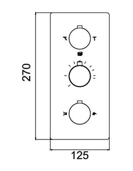 RGW termostata jaucējkrāns dušai Shower Panels SP-41-03 - 3