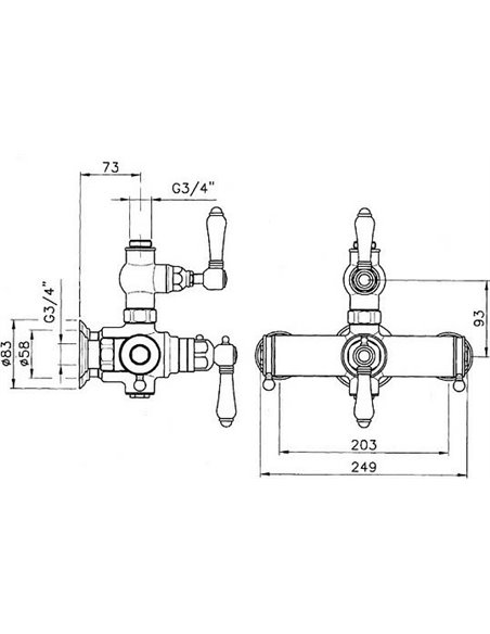 Nicolazzi termostata jaucējkrāns dušai Thermostatico 4917 BZ 18/78 - 5