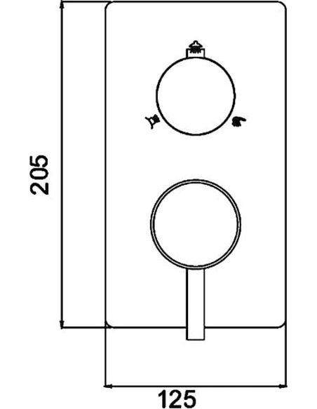 RGW dušas jaucējkrāns Shower Panels SP-43-03 - 3