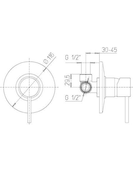 Paini dušas jaucējkrāns Cox 78CR690 - 2
