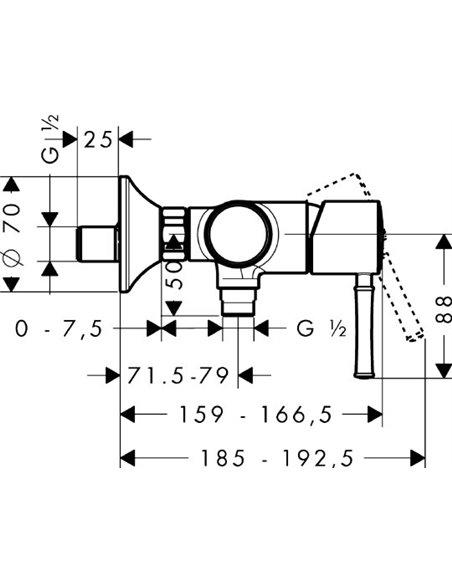 Hansgrohe dušas jaucējkrāns Talis Classic 14161000 - 4