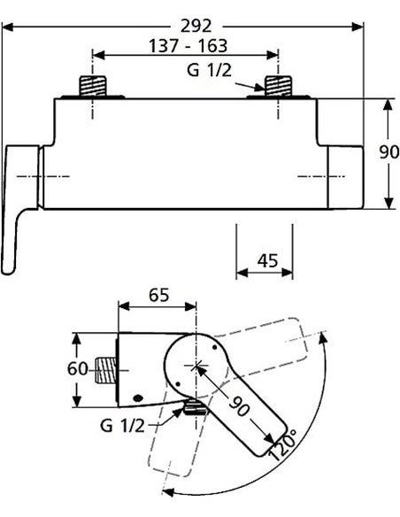 Ideal Standard dušas jaucējkrāns Attitude A4603AA - 2