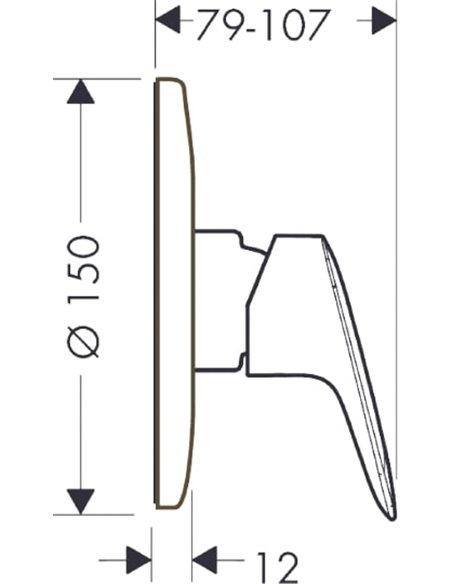 Hansgrohe dušas jaucējkrāns Logis 71606000 - 2