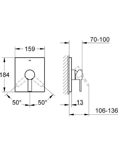 Grohe dušas jaucējkrāns Allure 19317000 - 2