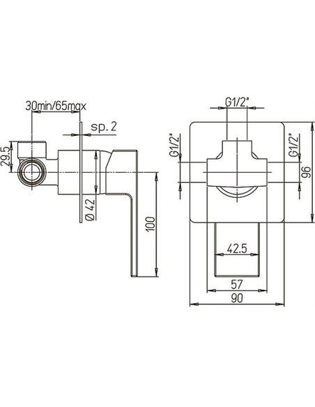 Paini dušas jaucējkrāns Dax 84CR690R - 3
