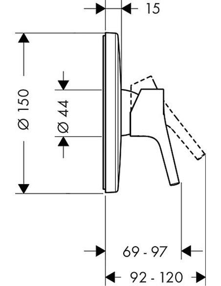 Hansgrohe dušas jaucējkrāns Talis S 72605000 - 2