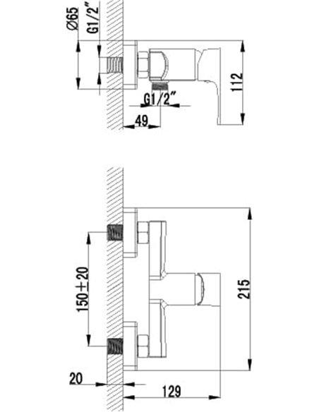 Lemark dušas jaucējkrāns Plus Factor LM1603C - 2
