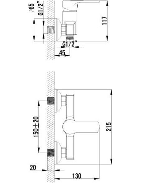 Lemark dušas jaucējkrāns Plus Grace LM1503C - 2