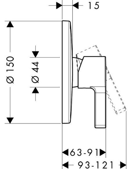 Hansgrohe dušas jaucējkrāns Metris S 31665000 - 2