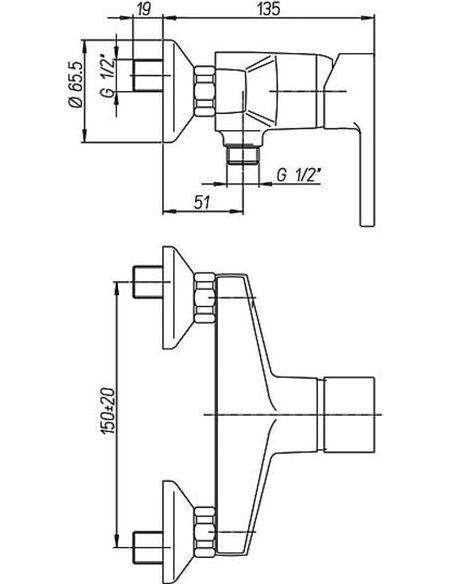 Paini dušas jaucējkrāns Arena 92CR5112SFTKM - 2