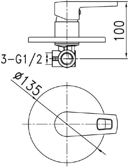 Iddis dušas jaucējkrāns Runo RUNSB00i66 - 2