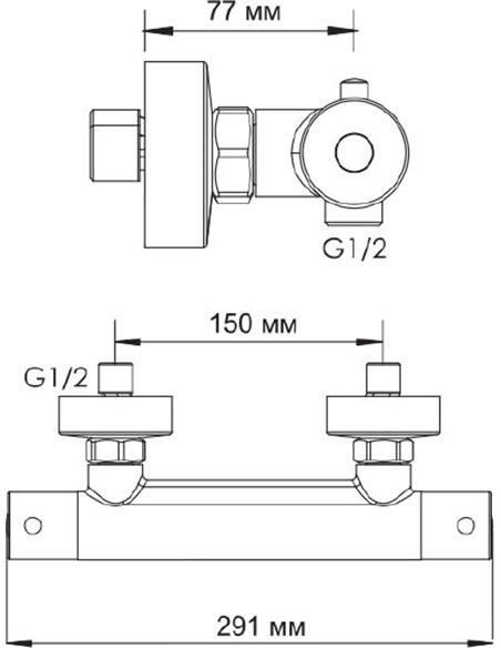 Wasserkraft termostata jaucējkrāns dušai Berkel 4822 - 6