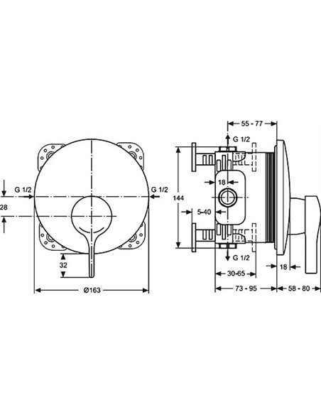 Ideal Standard dušas jaucējkrāns Melange A4719AA - 2