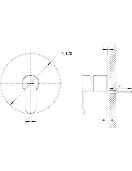 Bravat dušas jaucējkrāns New Moon PB839103CP-RUS - 2