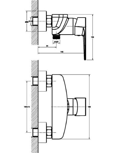 1 Orange dušas jaucējkrāns Otto M22-200cr - 2