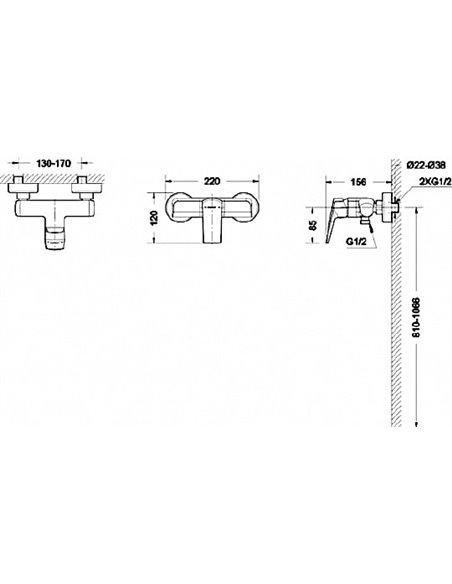 Bravat dušas jaucējkrāns Real F9121179CP-01 - 4