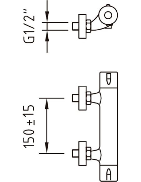 Clever termostata jaucējkrāns dušai Nine Urban 98149 - 2