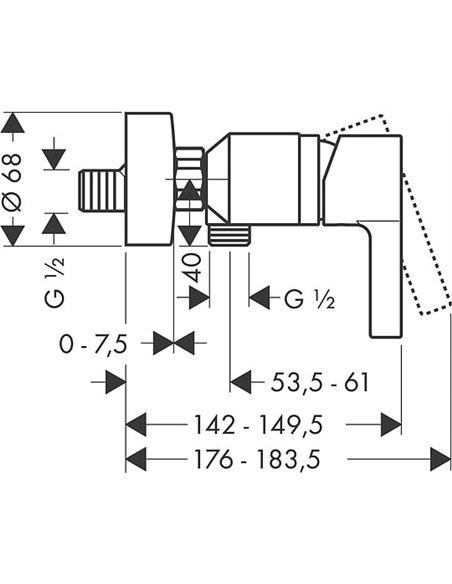 Hansgrohe dušas jaucējkrāns Metris S 31660000 - 2