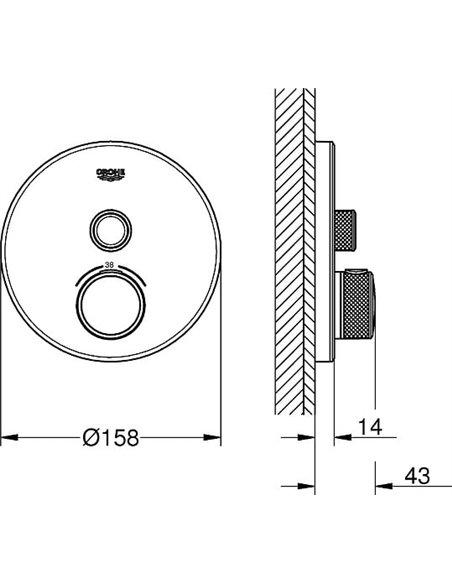 Grohe termostata jaucējkrāns dušai Grohtherm SmartControl 29150LS0 - 2