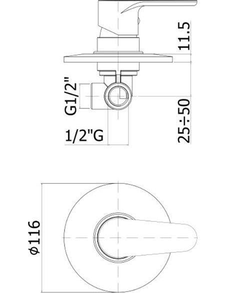 Paffoni dušas jaucējkrāns Green GR010CR - 2