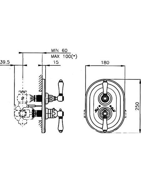 Nicolazzi termostata jaucējkrāns dušai Thermostatico 4909 BZ 78 - 5
